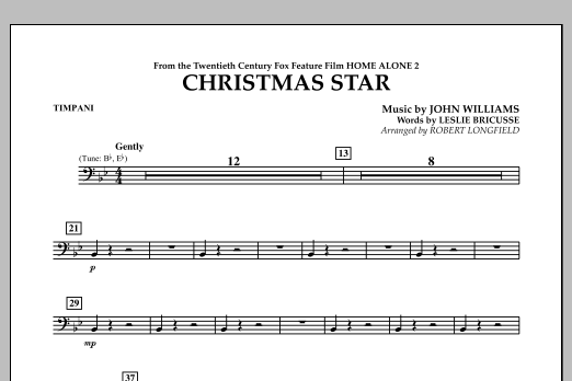 Robert Longfield Christmas Star (from Home Alone 2: Lost in New York) - Timpani sheet music notes and chords