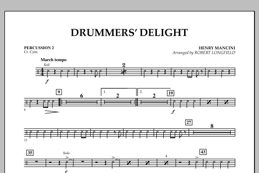 Robert Longfield Drummers' Delight - Percussion 2 sheet music notes and chords
