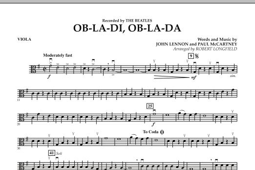 Robert Longfield Ob-La-Di, Ob-La-Da - Viola sheet music preview music notes and score for Orchestra including 1 page(s)