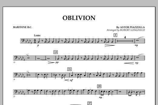 Robert Longfield Oblivion - Baritone B.C. sheet music notes and chords