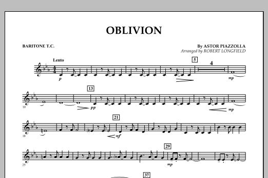 Robert Longfield Oblivion - Baritone T.C. sheet music notes and chords