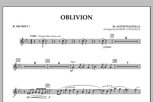 Robert Longfield Oblivion - Bb Trumpet 1 sheet music notes and chords
