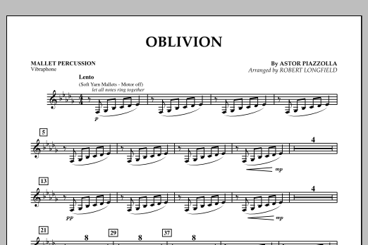 Robert Longfield Oblivion - Mallet Percussion sheet music notes and chords