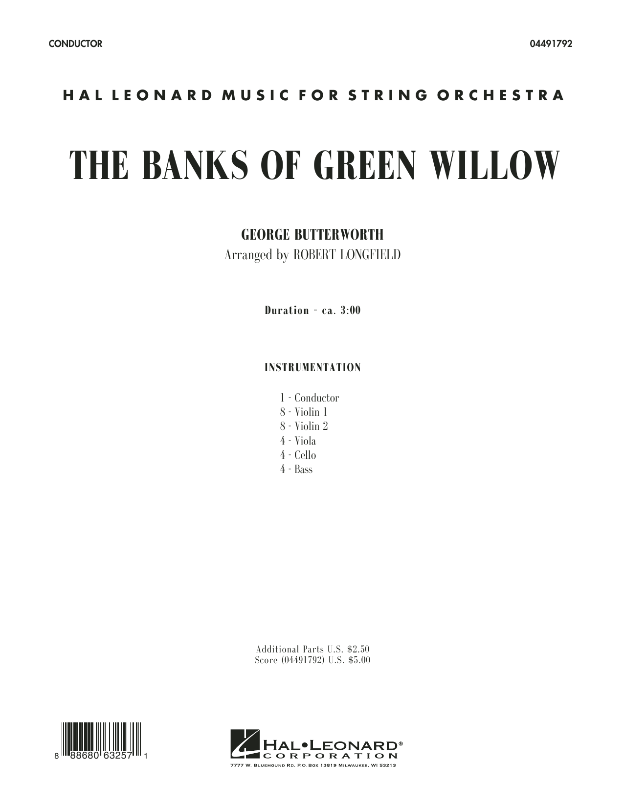 Robert Longfield The Banks of Green Willow - Conductor Score (Full Score) sheet music preview music notes and score for Concert Band including 16 page(s)