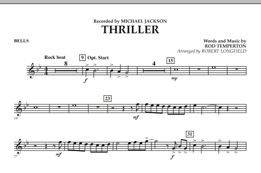 Robert Longfield Thriller - Mallet Percussion sheet music preview music notes and score for Concert Band including 1 page(s)