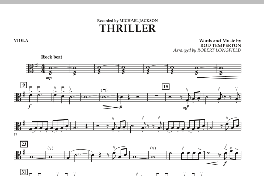 Robert Longfield Thriller - Viola sheet music preview music notes and score for Orchestra including 1 page(s)