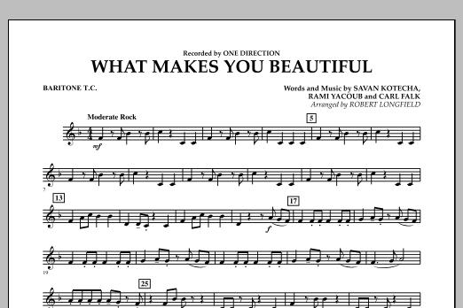 Robert Longfield What Makes You Beautiful - Baritone T.C. sheet music notes and chords