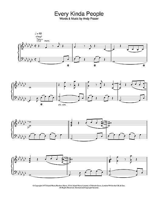 Robert Palmer Every Kinda People sheet music notes and chords