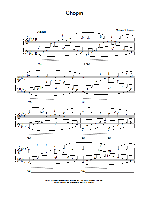 Robert Schumann Chopin sheet music preview music notes and score for Piano including 3 page(s)