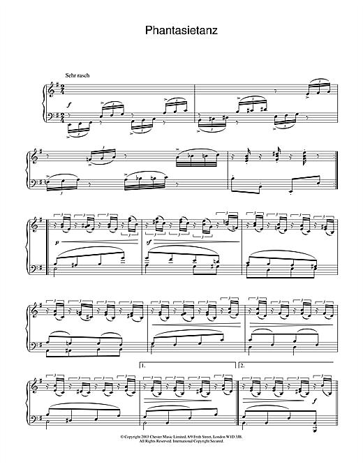 Download Robert Schumann 'Phantasietanz' Digital Sheet Music Notes & Chords and start playing in minutes