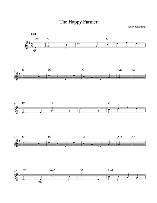 Download Robert Schumann 'The Happy Farmer' Digital Sheet Music Notes & Chords and start playing in minutes