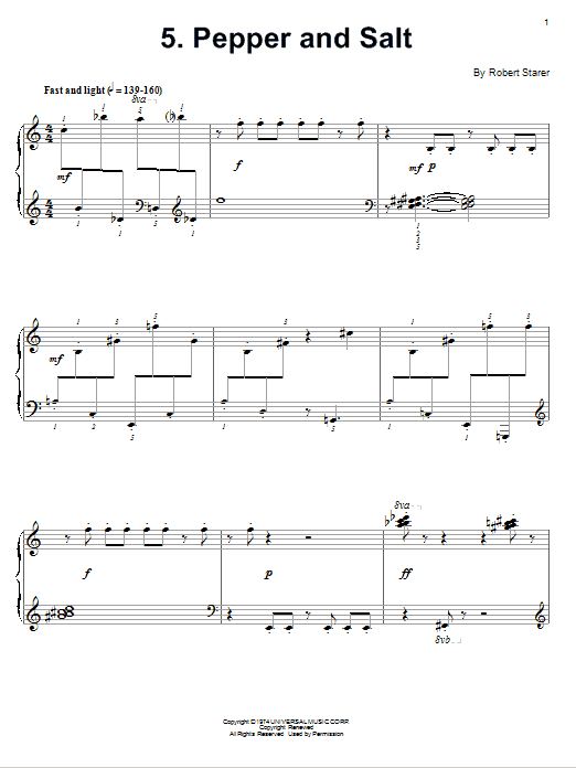 Download Robert Starer 'Pepper And Salt' Digital Sheet Music Notes & Chords and start playing in minutes