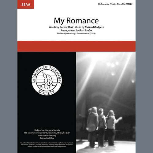 Rodgers & Hart My Romance (arr. Burt Szabo) profile picture