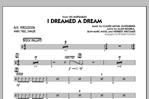 Roger Holmes I Dreamed a Dream (from Les Miserables) - Aux Percussion sheet music notes and chords