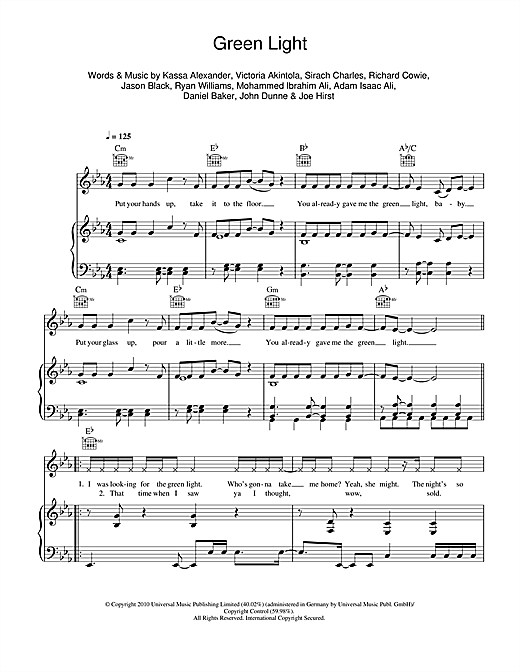 Download Roll Deep 'Green Light' Digital Sheet Music Notes & Chords and start playing in minutes