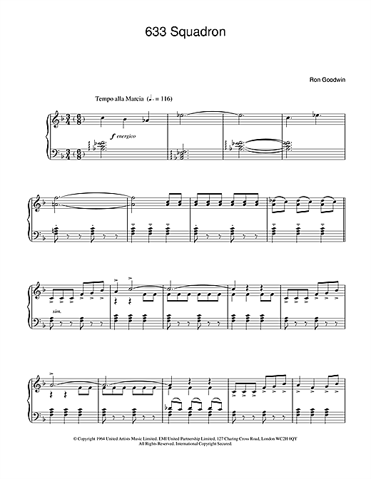 Download Ron Goodwin '633 Squadron' Digital Sheet Music Notes & Chords and start playing in minutes