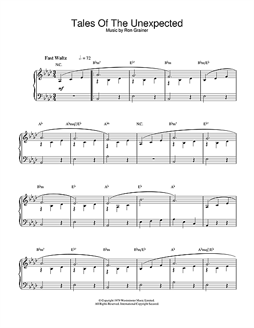 Download Ron Grainer 'Theme from Tales Of The Unexpected' Digital Sheet Music Notes & Chords and start playing in minutes