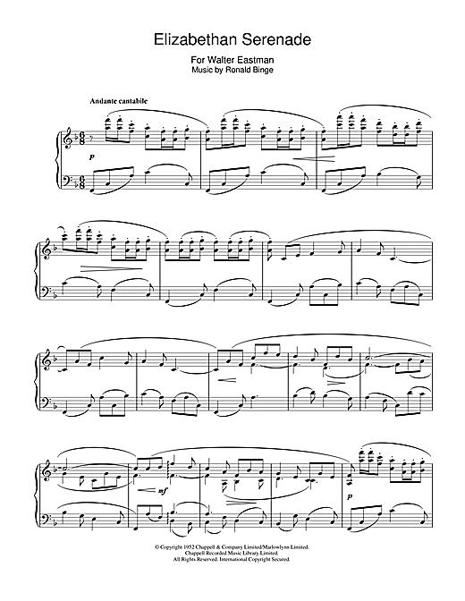 Download Ronald Binge 'Elizabethan Serenade' Digital Sheet Music Notes & Chords and start playing in minutes