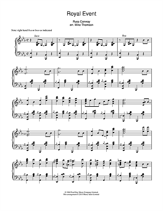Russ Conway Royal Event sheet music notes and chords