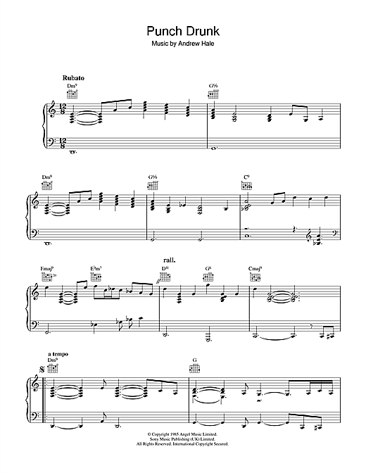 Download Sade 'Punch Drunk' Digital Sheet Music Notes & Chords and start playing in minutes