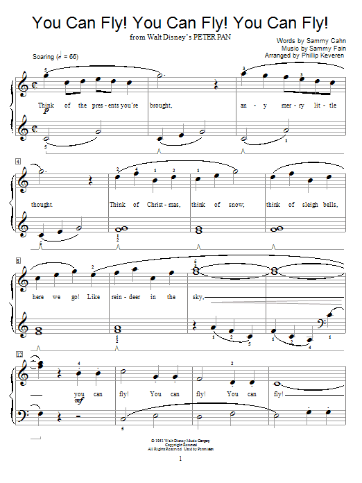 Sammy Cahn You Can Fly! You Can Fly! You Can Fly! sheet music preview music notes and score for Guitar Tab including 2 page(s)