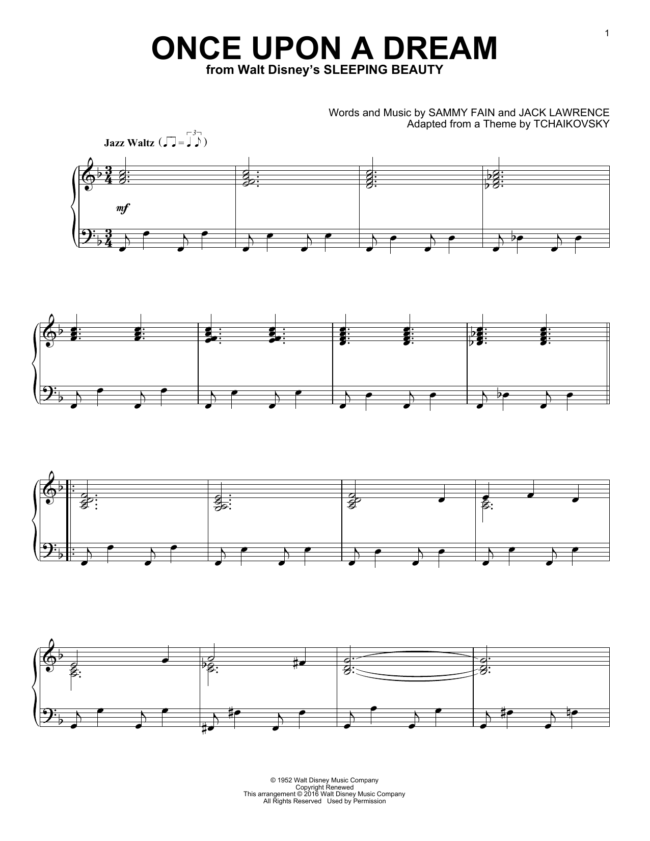 Download Sammy Fain 'Once Upon A Dream' Digital Sheet Music Notes & Chords and start playing in minutes
