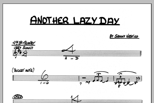 Sammy Nestico Another Lazy Day - 4th Bb Trumpet sheet music preview music notes and score for Jazz Ensemble including 1 page(s)