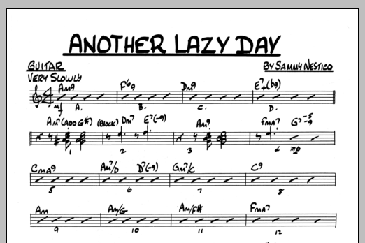 Sammy Nestico Another Lazy Day - Guitar sheet music preview music notes and score for Jazz Ensemble including 1 page(s)
