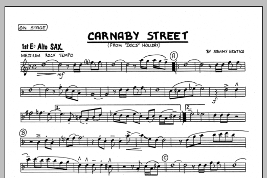 Sammy Nestico Carnaby Street - 1st Eb Alto Saxophone sheet music preview music notes and score for Jazz Ensemble including 1 page(s)