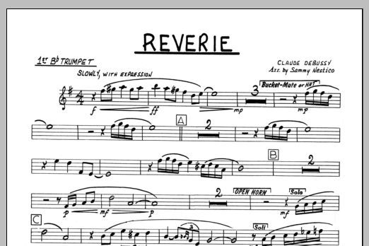 Sammy Nestico Reverie - 1st Bb Trumpet sheet music preview music notes and score for Jazz Ensemble including 1 page(s)