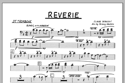 Sammy Nestico Reverie - 1st Trombone sheet music preview music notes and score for Jazz Ensemble including 1 page(s)