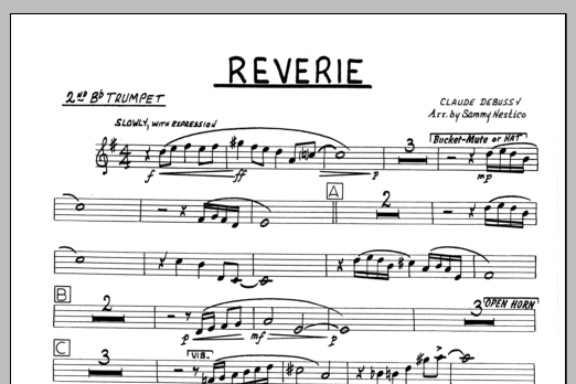 Sammy Nestico Reverie - 2nd Bb Trumpet sheet music preview music notes and score for Jazz Ensemble including 1 page(s)