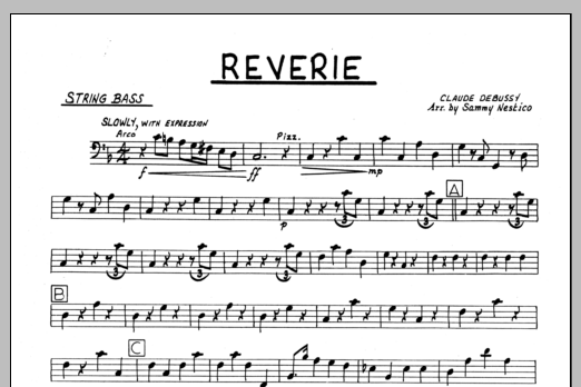 Sammy Nestico Reverie - Bass sheet music preview music notes and score for Jazz Ensemble including 1 page(s)