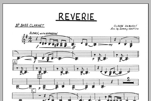Sammy Nestico Reverie - Bb Bass Clarinet sheet music preview music notes and score for Jazz Ensemble including 1 page(s)