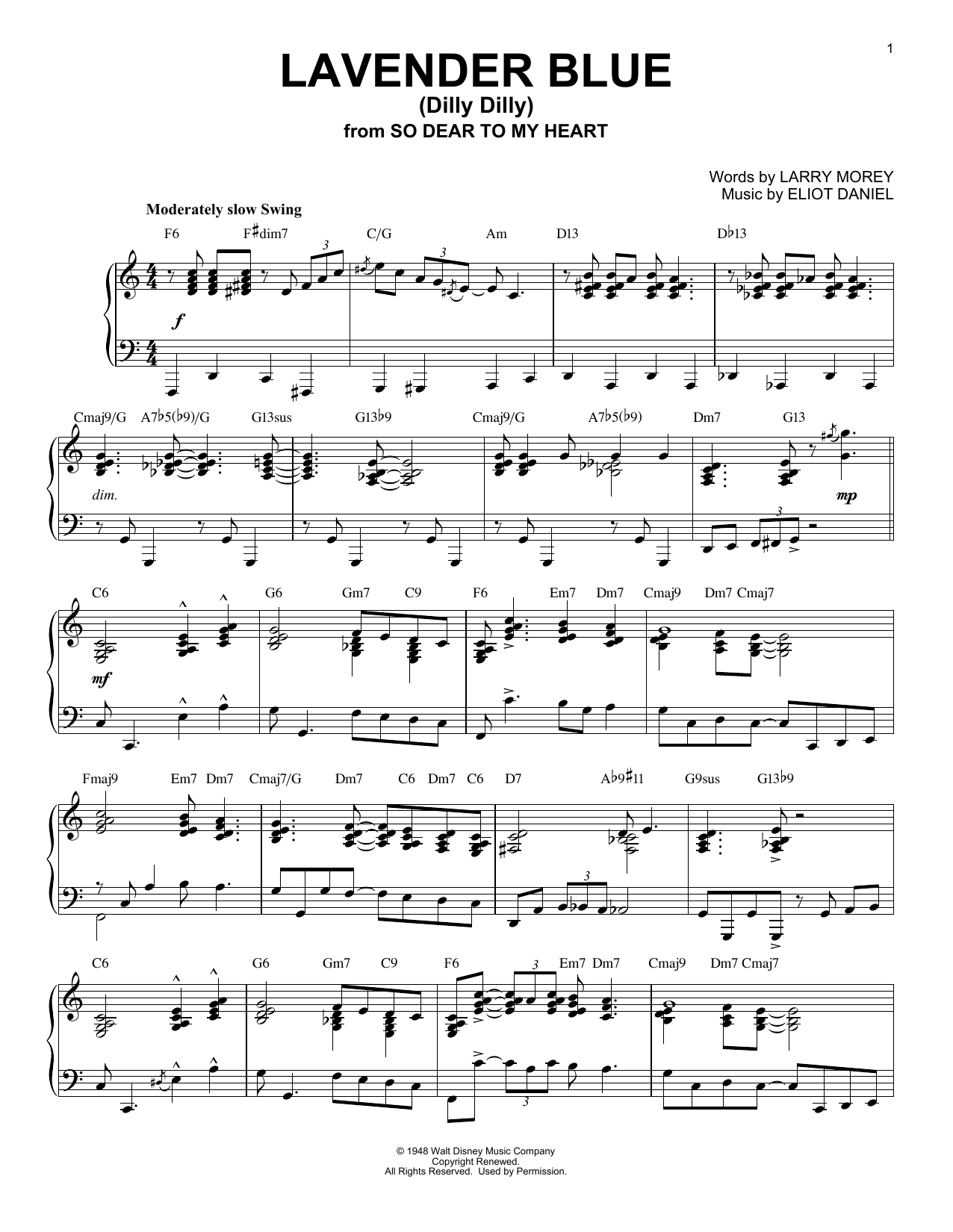 Download Sammy Turner 'Lavender Blue (Dilly Dilly)' Digital Sheet Music Notes & Chords and start playing in minutes
