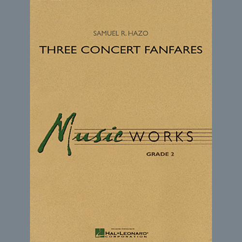 Samuel R. Hazo Three Concert Fanfares - Eb Alto Saxophone profile picture