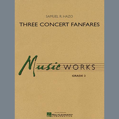 Samuel R. Hazo Three Concert Fanfares - Eb Baritone Saxophone profile picture