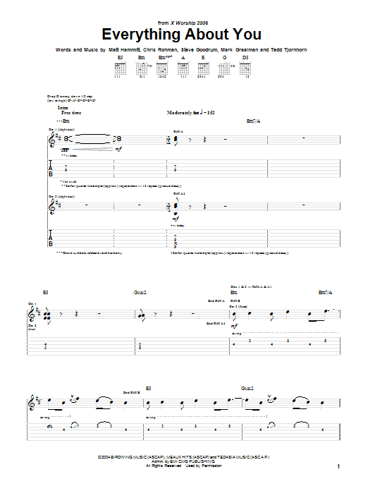 Sanctus Real Everything About You sheet music notes and chords