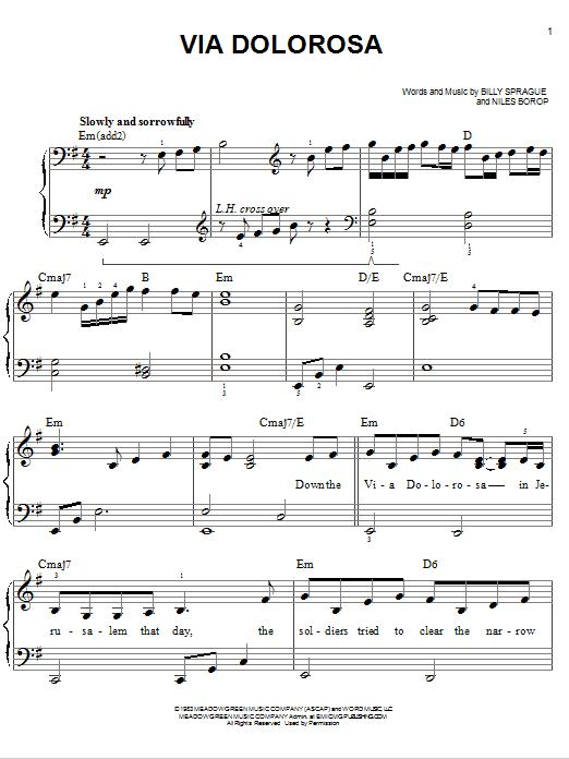 Sandi Patty Via Dolorosa sheet music notes and chords