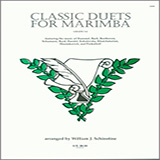 Download Schinstine Classic Duets For Marimba Sheet Music arranged for Percussion Ensemble - printable PDF music score including 13 page(s)