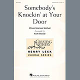 Download African-American Spiritual Somebody's Knockin' At Your Door (arr. Scott Atwood) Sheet Music arranged for Unison Choral - printable PDF music score including 6 page(s)
