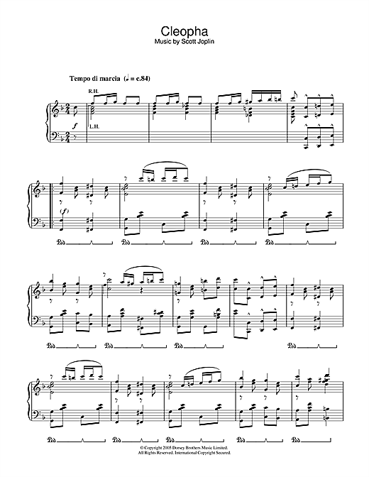 Download Scott Joplin 'Cleopha' Digital Sheet Music Notes & Chords and start playing in minutes
