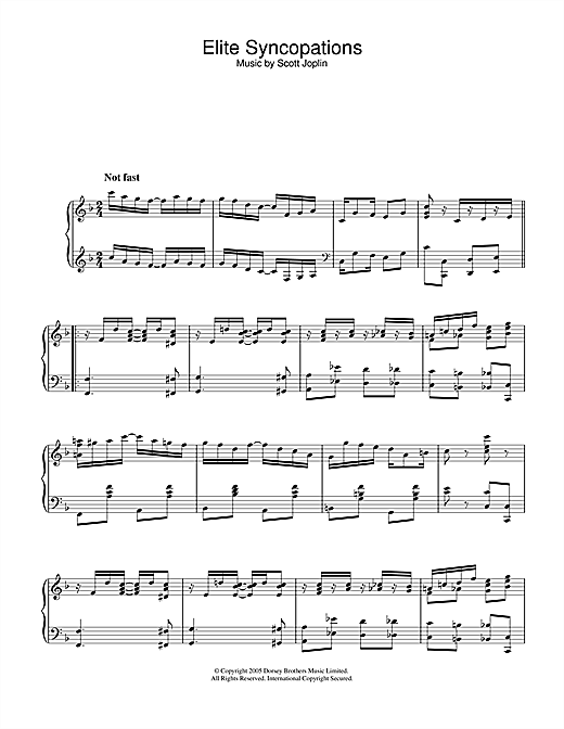 Download Scott Joplin 'Elite Syncopations' Digital Sheet Music Notes & Chords and start playing in minutes