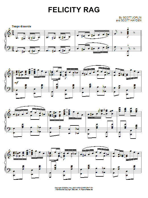 Download Scott Joplin 'Felicity Rag' Digital Sheet Music Notes & Chords and start playing in minutes