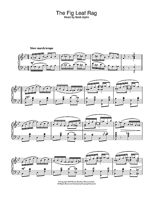 Download Scott Joplin 'Fig Leaf Rag' Digital Sheet Music Notes & Chords and start playing in minutes