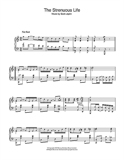 Download Scott Joplin 'Strenuous Life' Digital Sheet Music Notes & Chords and start playing in minutes