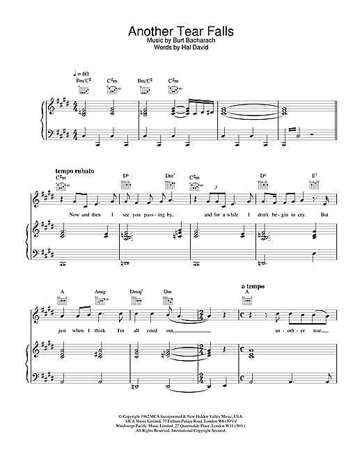 Scott Walker Another Tear Falls sheet music notes and chords
