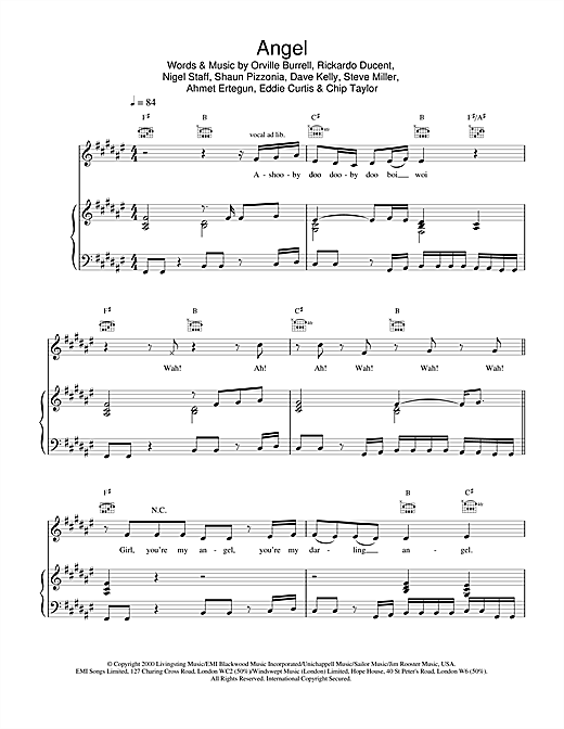 Shaggy Angel sheet music notes and chords