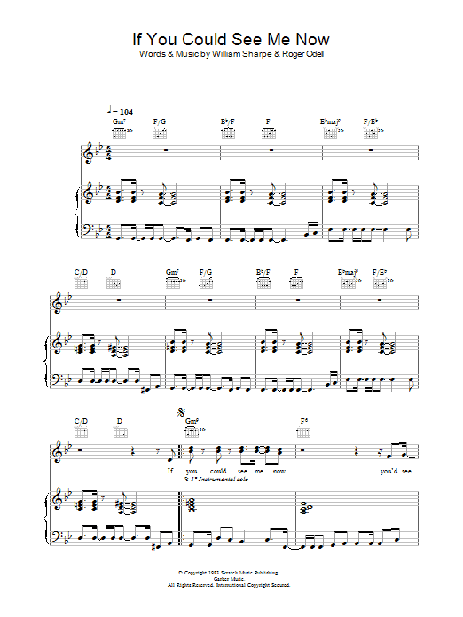 Shakatak If You Could See Me Now sheet music preview music notes and score for Piano, Vocal & Guitar including 6 page(s)