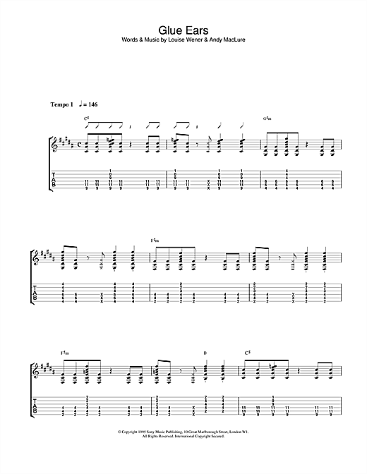 Sleeper Glue Ears sheet music notes and chords